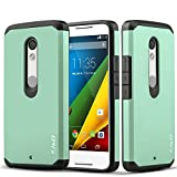 Motorola X Play Case, J&D [ArmorBox] Moto X Play [Heavy Duty] [Dual Layer] Hybrid Shock Proof Fully Protective Case for Moto X Play (Moto X Play, Mint)