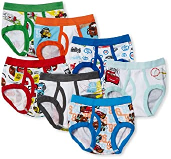 Amazon Com Disney Little Boys Cars 7 Pack Brief Briefs