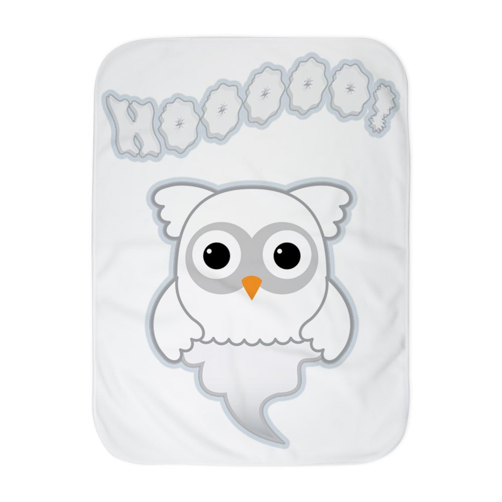 Truly Teague Baby Blanket White Spooky Little Ghost Owl