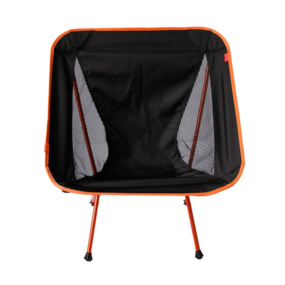 ZHANGJN Outdoor Folding Ultralight Camp Chairs Aluminum Portable Chair with Carry Bag for Outdoor, Festival, Beach, Hiking-Orange by ZHANGJN