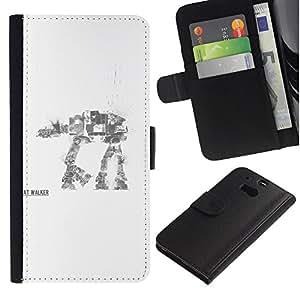 Stuss Case / Funda Carcasa PU de Cuero - AT AT Walker - HTC One M8