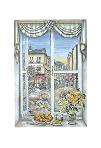 - Stupell Home Décor Decorative Faux Window Scene, Paris Flower Market, 22 x 0.5 x 33, Proudly Made in USA