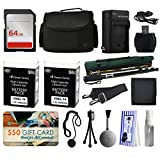 Best Value Accessories Package for Nikon D5500 D5300 D5200 D5100 D3300 D3200 D3100 includes 64GB Memory Card + SD Wallet + Large Padded Case + Charger with Car Adapter + 2 Batteries + Monopod