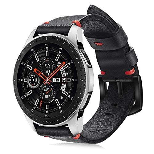 Fintie Watch Band for Galaxy Watch 46mm / Gear S3, 22mm Premium Leather Replacement Wrist Bands with Adjustable Classic Buckle for Samsung Galaxy Watch 46mm / Gear S3 Frontier/Classic Smartwatch