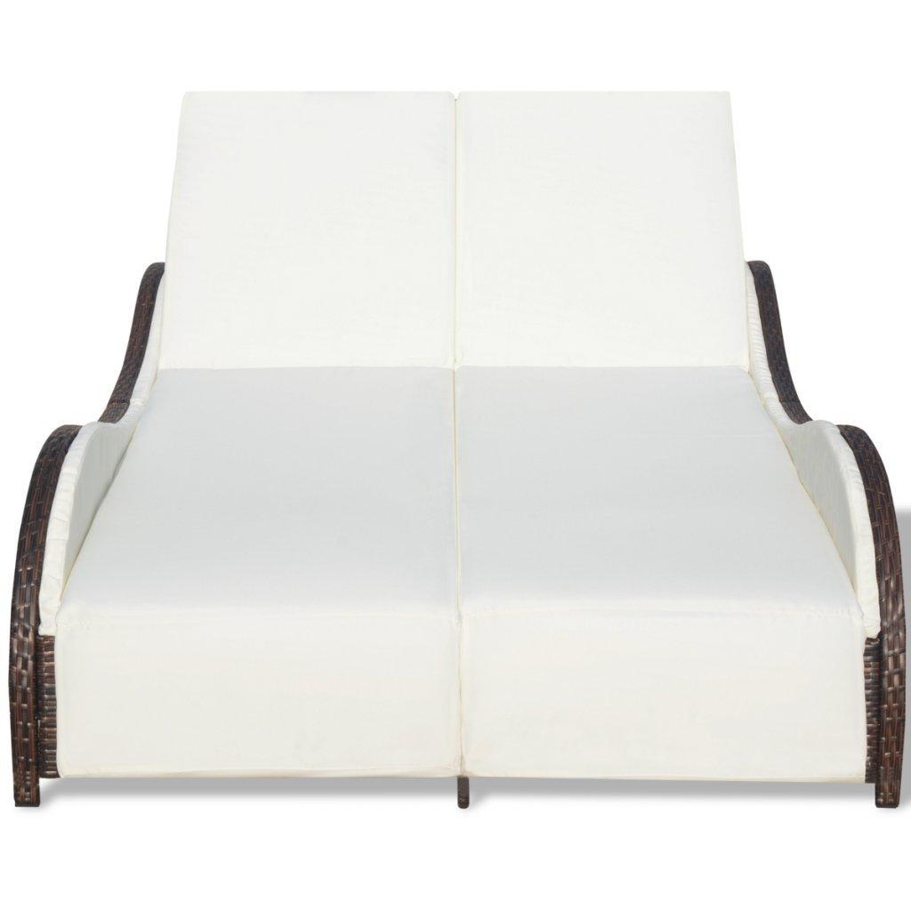 Amazon.com: festnight 2-person Patio tumbona de ratán sofá ...