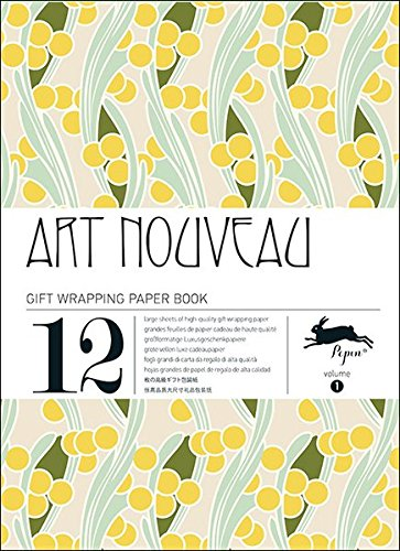 Art Nouveau : Gift and creative paper book Vol. 1 (English, French, Italian, Dutch, German, Spanish, Japanese and Chinese Edition) (Press Pepin)