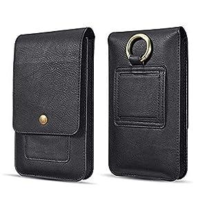 Realtech Vintage Leather Holster Mobile Phone & Passport Wallet Vertical Waist Pack/Belt Bag Wallet with Card Holder for…