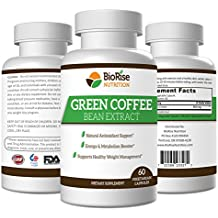 100% Pure Green Coffee Bean Extract, Best Natural Metabolism Booster, 800mg, 60 Veg Capsules, Healthy Weight Management