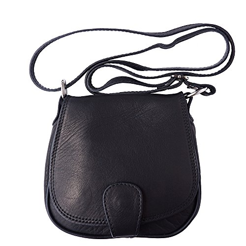 Hombro Tipo Market Florence B024 Saddle De Leather Negro Bolsa FxtwwEg