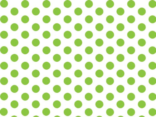 Green and White Polka Dot Tissue Paper - 20 Inch x 30 Inch - 48 XL Sheets