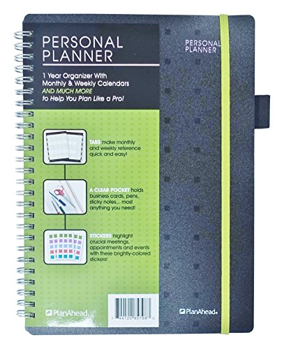 PlanAhead CEO Personal Planner - Undated 1 Year Organizer with Monthly and Weekly Calendars ()