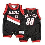 Portland Trail Blazers Rasheed Wallace #30 NBA Baby Boys Retro Romper, Black