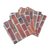 Roostery Old Brick Wall Linen Cotton Dinner Napkins Old Brick Wall -Biggest by Koalalady Set of 4 Cotton Dinner Napkins Made