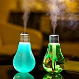 Lychee Mini Portable Desktop Air Humidifier, Ultrasonic Humidifier with Color Changing LED Lights, 400ml USB Portable Mist Air Humidifier For Home, Office, Bedroom, Baby Room,Gift ideal.
