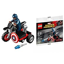 LEGO Super Heroes Marvel Civil War Captain America's Motorcycle (30447) [Bagged]