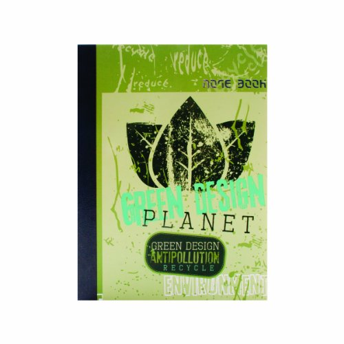 (Canefields Eco Series Sugarcane Paper Artisan Notebook, 8.27 x 11.69 Inches, 192 Ruled Pages, Green Design Planet Cover (CNF68957))