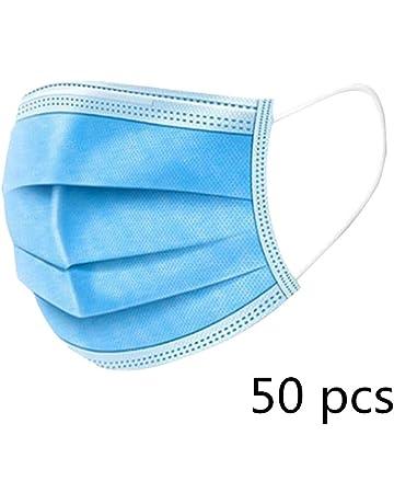 50 St/ück Staubdichte 3-lagige Einweg-Gesichtsabdeckung Vlies-atmungsaktive Mund-Gesichtsabdeckung HR-COME
