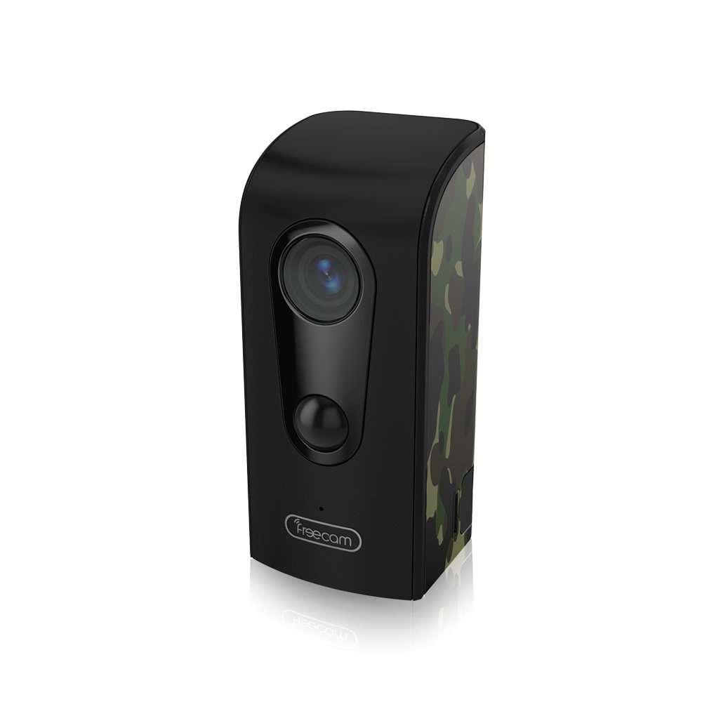 FREECAM Outdoor Wire-Free WiFi Camera Motion-Activated HD Weather-Proof Home Security Camera with Night Vision and Motion Alert Push,C380 Camouflage