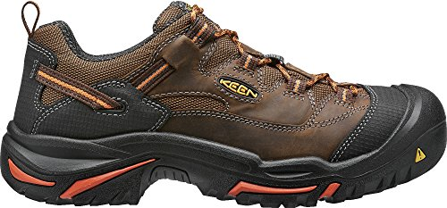 KEEN Utility Men's Braddock Low Soft-Toe Work Boot, Cascade/Orange Ochre, 11.5 D US (Non Men Keen Shoes Slip)