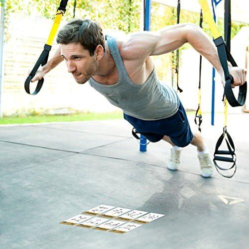 Ejercicio tarjetas Suspensión – para TRX, WOSS, y ritfit Trainer – Correas construir músculo, tono & Apriete – Gimnasio en casa peso resistencia ...