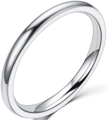 Amazon.com: Jude Jewelers - Anillo de boda apilable de acero ...
