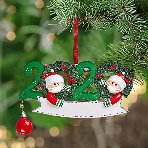EKUPUZ Christmas Ornaments 2020 New Wooden Personalized Name Christmas Decoration,Quarantine Survivor Family Customized Christmas Tree Hanging Pendant DIY Name Kit,Creative Gift for Family