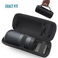 AhaStyle Hard EVA Shockproof Bag Travel Carrying Case [Exact Fit] [Carabiner Included] for Bose SoundLink Revolve Bluetooth Speaker - Black (For Revolve)