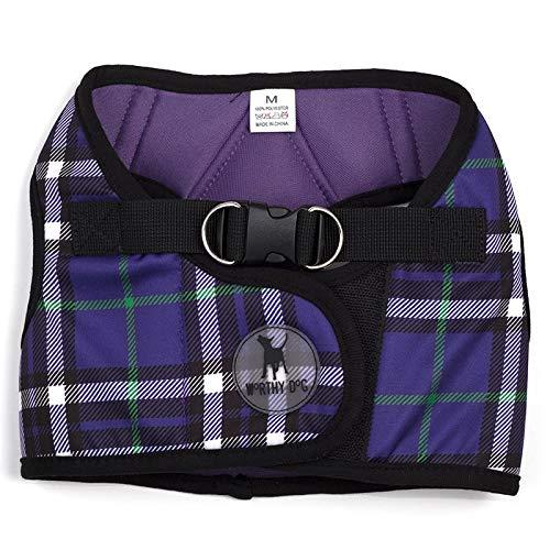 The Worthy Dog 21858-4134XL Printed Sidekick Pet Harness, Purple, X-Large