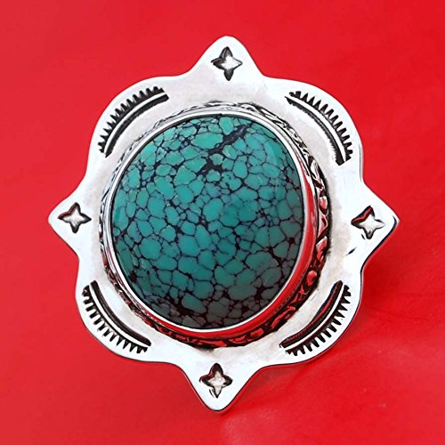 Beautiful Chinese Jewellery (Beautiful Chinese Spider Web Turquoise Argentium Sterling Silver Ring Handmade NEW)