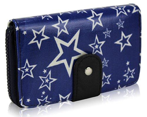 TrendStar - Cartera de mano para mujer Small azul - Navy Star Fashion Purse