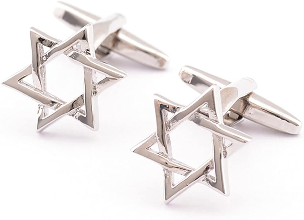 Covink® Star of David Pair Cufflinks Religous Symbol of Modern Jewish Ornament Kabbalistic Holocaust Use