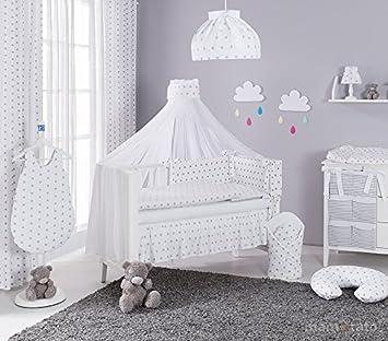 d8dfd29952724 Parure de lit bébé 60x120cm - 13 pièces - plusieurs couleurs au choix  (Blanc et