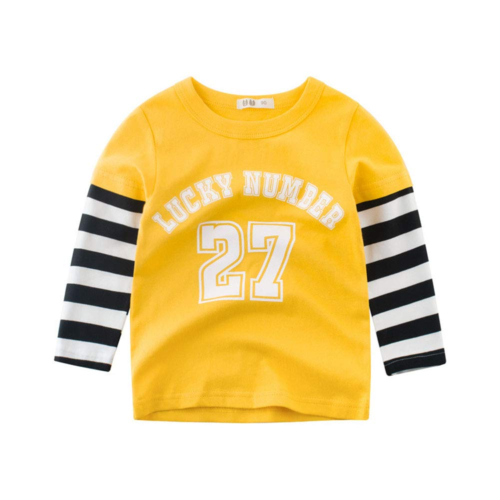 HAXICO Toddler Baby Boys Long Sleeve Crew Neck Cotton T-Shirt Tops Tee
