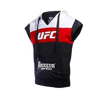 BOXEUR DES RUES Fight Activewear Serie, Sudadera sin Mangas con Logo UFC Hombre: Amazon.es: Deportes y aire libre