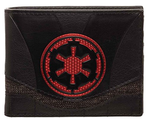 Star Wars Wallet Empire Chrome Logo Weld Patch Official Black Bifold by Star Wars Merch