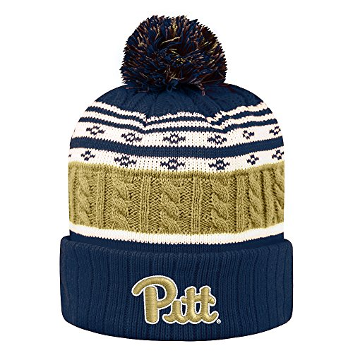 Top of the World Pittsburgh Panthers Men's Winter Knit Hat Icon, Navy, One Fit