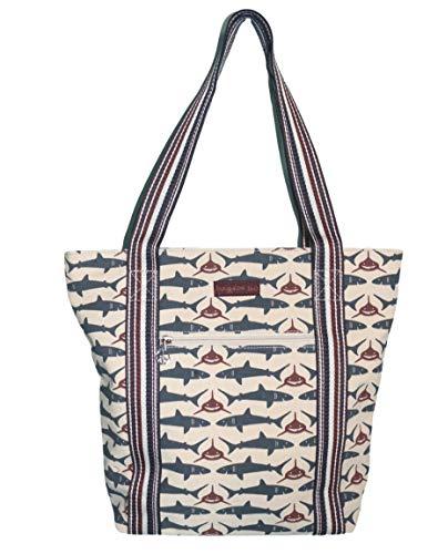 - Bungalow 360 Vegan Striped Tote Bag (SHARK)