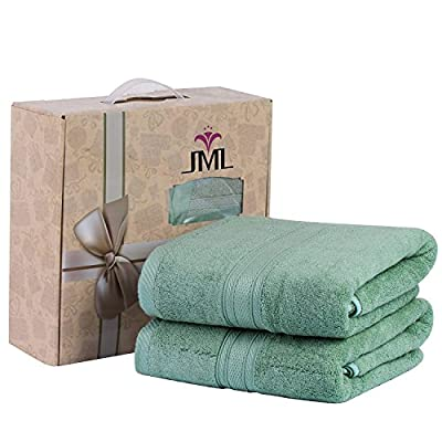 "JML Bath Towels, Bamboo Bath Towels(2 Pack, 27"" x 55""), 500GSM - Soft and Absorbent, Quick Drying Hotel Spa Bath Towel - MATERIAL - JML bamboo bath towels is made of 90% bamboo fabric and 10% cotton GIFT PACKAGE - 2 pack bath towels 27"" x 55"", best quick drying towels for bath, swimming, pool and spa EXTRA SOFT & ABSORBENT - bamboo fiber is known for its softness,and bamboo fiber towels is 3 times as absorbent as cotton towels - bathroom-linens, bathroom, bath-towels - 51f5NWqCHeL. SS400  -"