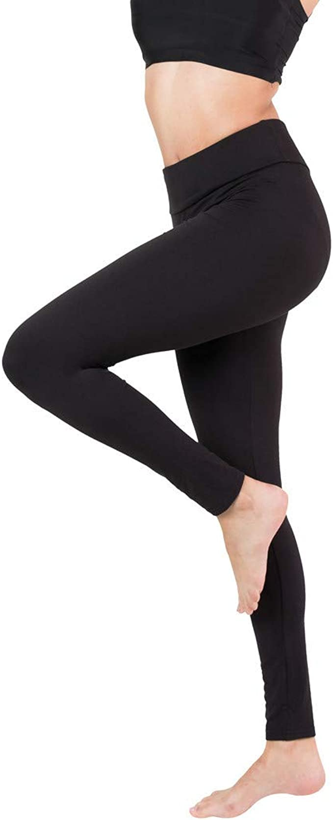 Amazon.com: Baihetu - Leggings de cintura alta con bolsillo ...