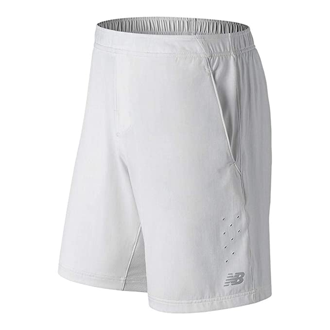 3b175b68b9702 Amazon.com: New Balance Men's Tournament Shorts, White, XX-Large/9