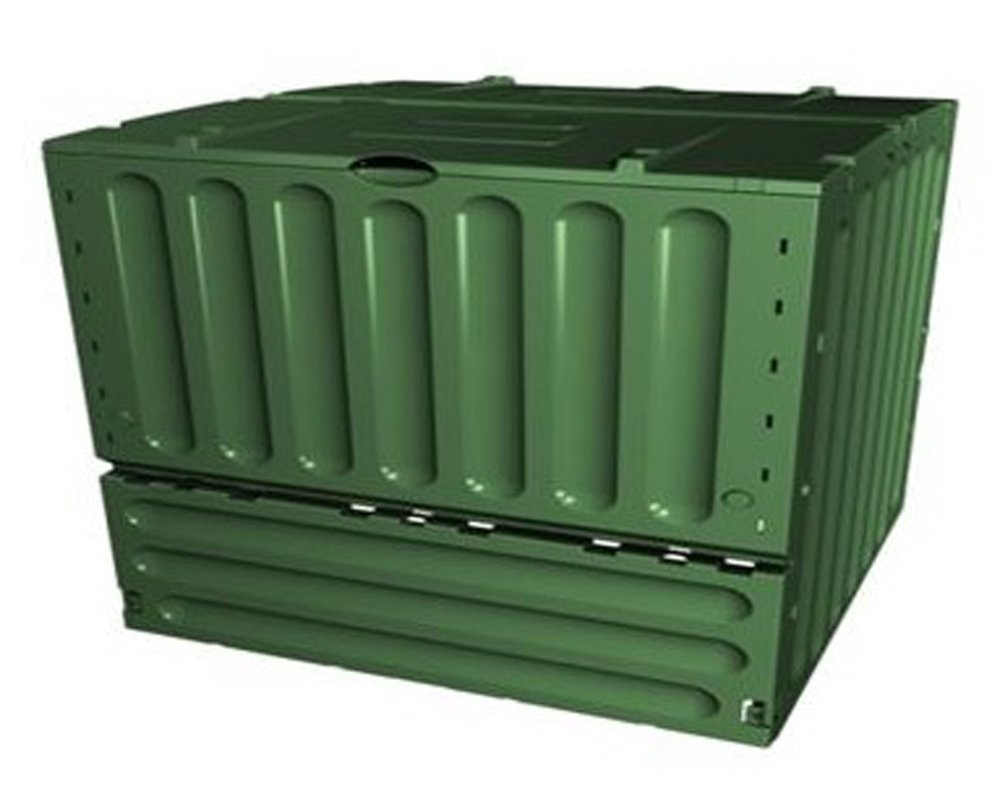 Compostador eco-king Coloris verde 400 L, L 700 x l 700 x h 830 mm - pegane-: Amazon.es: Hogar