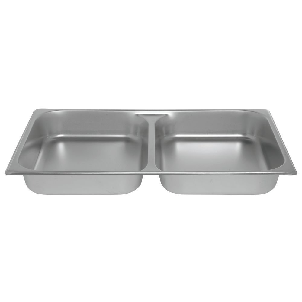 HUBERT Full Size Divided Steam Table Pan 22 Gauge Stainless Steel - 2 1/2 D