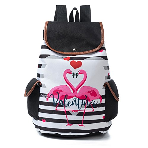 2f149920236b3 ... Teenager Girls Cartoon Unicorn Flamingo Printed School Backpack Canvas  Lady School Bag (B). by flyfish. Colour Name  B. product-variation