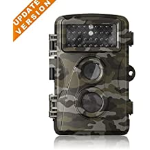 [Updated Version]12 MP 1080P HD Mini Trail & Game Camera Low Glow Infrared Scouting Camera Night Vision Motion Activated Outdoor Wildlife Cameras and Waterproof IP66 by Flinelife