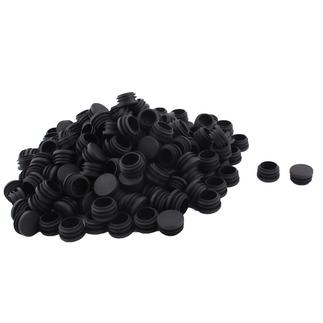 OKSLO Table chair legs plastic round tube insert cap cover plug black 30mm dia 200pcs