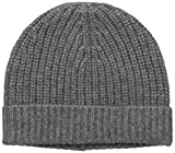 Sofia Cashmere Women's 100% Cashmere Shaker Rib Hat, Nightmist Grey, One Size