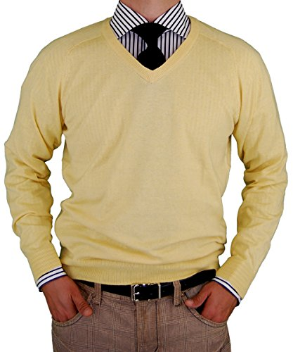 luciano-natazzi-classic-fit-v-neck-premium-cotton-sweater-with-a-cashmere-touch-xxx-large-sunlight