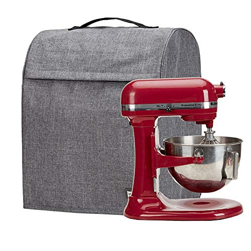 HOMEST Stand Mixer Dust Cover with Pockets Compatible with KitchenAid Bowl Lift 5-8 Quart, Grey (Patent Pending) (Kitchenaid Mixer Covers 5 Quart)