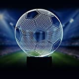 3D Glow LED Night Light Sport Element 7 Colors Optical Illusion Lamp Touch Sensor Perfect for Home Party Festival Decor Great Gift Idea (Football)