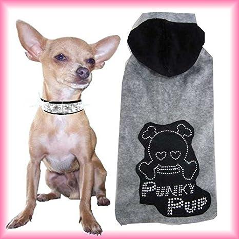 Perros Mantel punky Skull tamaño XS gris: Amazon.es: Productos para mascotas